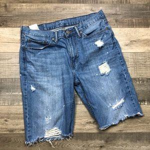 LEVI'S   Distressed Denim Shorts Vintage Bermuda